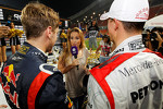 First place Sebastian Vettel and Michael Schumacher