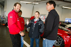 Rui Aguas, Robert Kauffman and Michael Waltrip
