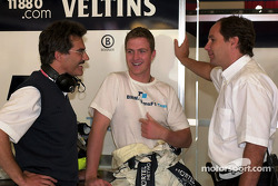 Head of BMW motorsport Dr. Mario Theissen, Ralf Schumacher and Gerhard Berger