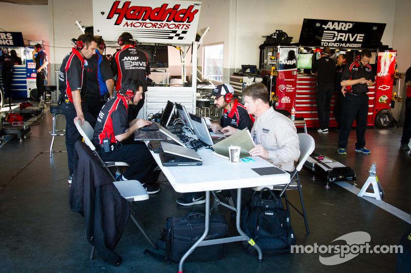 Hendrick Motorsports technicians at work