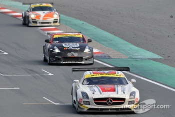 #14 de Lorenzi Racing Mercedes SLS AMG GT3: Gianluca de Lorenzi, Dan Norris-Jones, Olivier Baharian, Dario Paletto