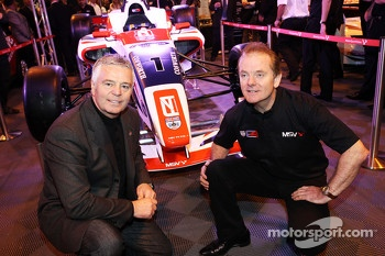Derek Warwick, andJonathan Palmer, unveil the new BRDC Formula 4 Championship Car