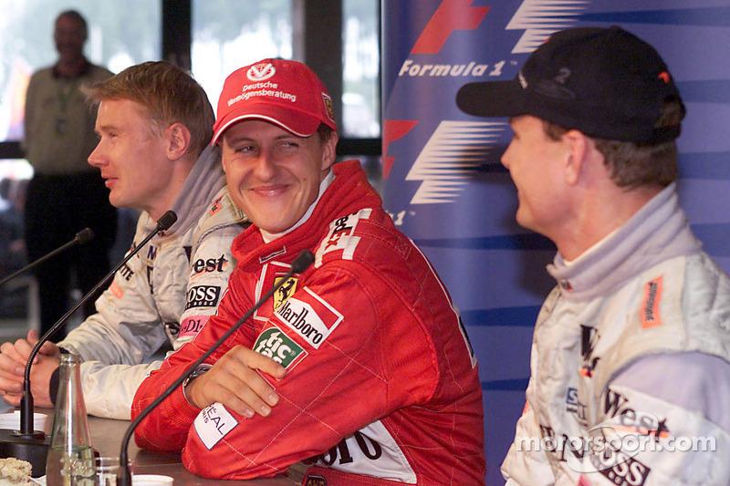 Post-race press conference: Michael Schumacher, Mika Hakkinen, David Coulthard