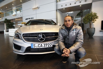 Lewis Hamilton, Mercedes GP visits the Mercedes headquarters