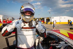 GT pole winner Nick Tandy celebrates