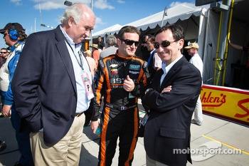 Nicolas Minassian with Frédéric Henry Biabaud from WEC and ACO president Pierre Fillon