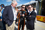 Nicolas Minassian with Frdric Henry Biabaud from WEC and ACO president Pierre Fillon
