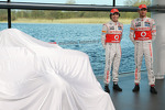 Sergio Perez, McLaren with team mate Jenson Button, McLaren