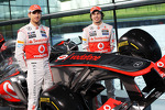 Jenson Button, McLaren and Sergio Perez, McLaren with the new McLaren MP4-28