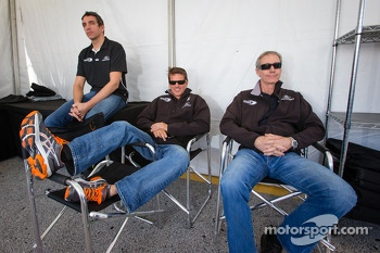 Justin Wilson, Oswaldo Negri and John Pew