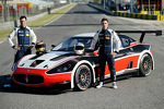 Gabriele Gardel and Alessandro Pier Guidi with the Maserati GranTurismo Mc