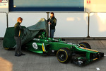 Charles Pic, Caterham and team mate Giedo van der Garde, Caterham F1 Team unveil the new Caterham CT03