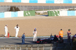 Jenson Button, McLaren stops on the circuit