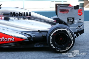 TAG Heuer logo on the McLaren MP4-28 of Jason Button