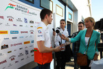 Paul di Resta, Sahara Force India F1 with the media