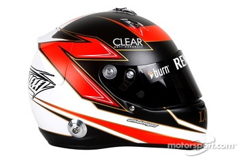 The helmet of Kimi Raikkonen, Lotus F1 Team