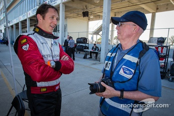Spencer Pumpelly with Motorsport.com's Joe Jennings
