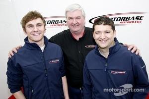 Aron Smith, Mat Jackson and Team Principal David Bartrum