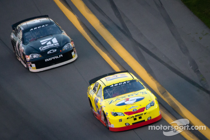 John Wes Townley leads Kyle Larson