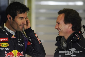 Mark Webber, Red Bull Racing with Christian Horner, Red Bull Racing Team Principal