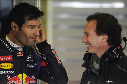 Mark Webber, Red Bull Racing with Christian Horner, Red Bull Racing Team Principal