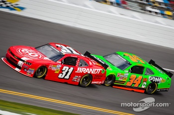 Justin Allgaier and Danica Patrick