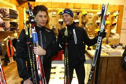 Loic Duval and Adrien Tambay