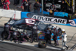 Austin Dillon in the pits with damage