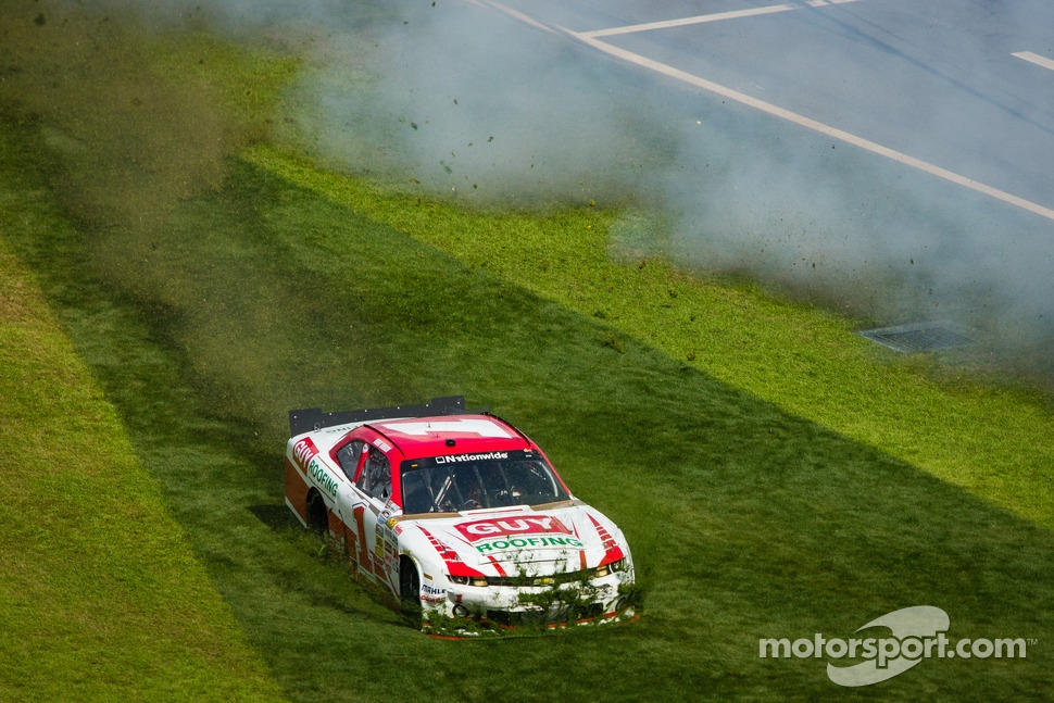 Kurt Busch in the grass