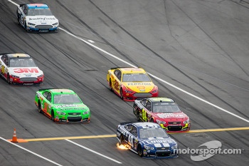 Jimmie Johnson, Hendrick Motorsports Chevrolet leads the field on pit road