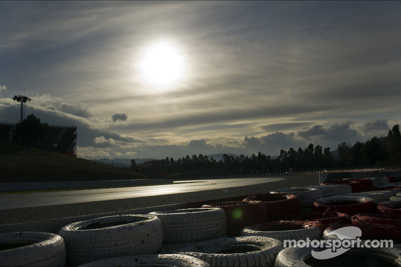 Sun rising over the circuit