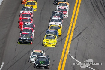 Kyle Busch leads Matt Kenseth