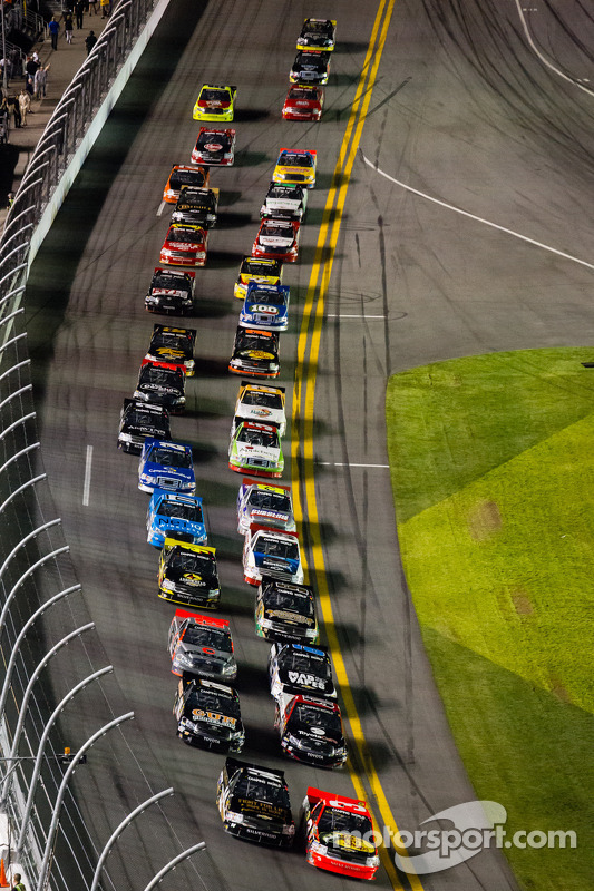 Restart: Ty Dillon and Brennan Newberry lead the field