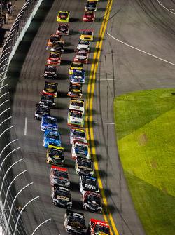NASCAR-TRUCK: Restart: Ty Dillon and Brennan Newberry lead the field