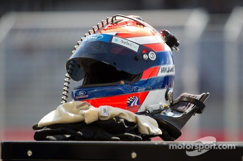 The helmet of Ian James