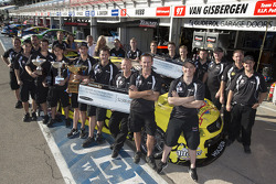 The Tekno Team celebrate Shane van Gisbergen's victory