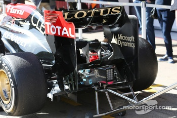 Lotus F1 E21 rear diffuser and rear wing
