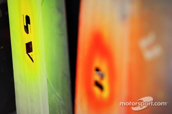 Sahara Force India F1 Team tyre marking stencils
