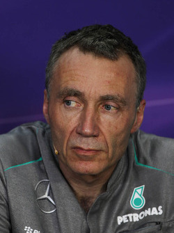 Bob Bell, Mercedes AMG F1 Technical Director bij de FIA-persconferentie