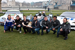 From left: Stéphane Sarrazin, John Martin, Alex Brundle, Darren Turner, Danny Watts, Nick Leventis and Jonny Kane