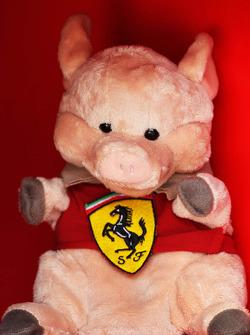 Ferrari pig mascot