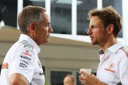 Martin Whitmarsh, McLaren Chief Executive Officer with Jenson Button, McLaren