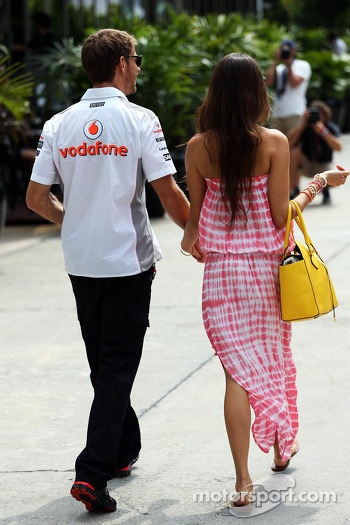 Jessica Michibata, with boyfriend Jenson Button, McLaren