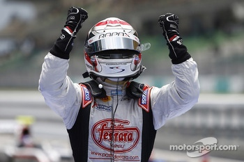 Race winner Stefano Coletti celebrates