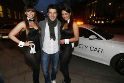 Mike Rockenfeller with Playboy Bunnies