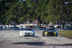 #55 BMW Team RLL BMW Z4 GTE: Bill Auberlen, Maxime Martin, Jörg Müller, #56 BMW Team RLL BMW Z4 GTE: Dirk Müller, Joey Hand, John Edwards