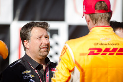 Michael Andretti with race winner Ryan Hunter-Reay, Andretti Autosport