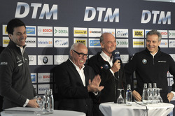 Torger Christian Toto Wolff, Sporting Director Mercedes-Benz, Hans Werner Aufrecht, Chairman of DTM, Dr. Wolfgang Ullrich, hoofd van Audi Motorsport, Jens Marquardt, Head of BMW Motorsport