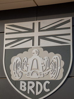 BRDC Emblem gracing The Wing at Silverstone