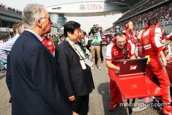 Piero Ferrari, Ferrari Vice-President on the grid